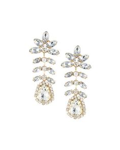 Crystal Flower Dangle Earrings by Fragments at Neiman Marcus Last Call.