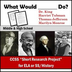 Common Core- ready research assignment for ELA or Social Studies/History! Students research what historical figures would say about today's current events. Study History, History Education, Teaching History, Teaching Resources, Teaching Tools, Teaching Secondary, Teaching Social Studies, Research Skills, Research Projects