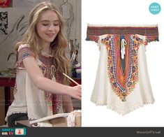 Maya's embroidered top on Girl Meets World.  Outfit Details: http://wornontv.net/51280/ #GirlMeetsWorld Buy it at Nordstrom: http://wornon.tv/30670