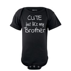 9fee84d37 Apericots My Sister is Cuter Than Your Sister Short Sleeve Baby Bodysuit  Baby Bodysuit, Short
