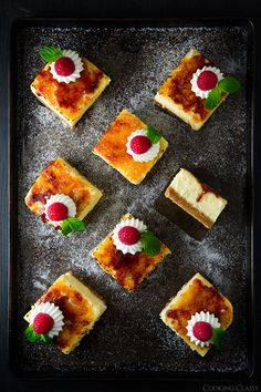 Creme Brulee Cheesecake Bars - these are incredibly delicious! I love everything about them. @Jaclyn Booton Booton Bell {Cooking Classy}