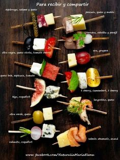 Super fun ideas ❤️ Hip snacks – Famous Last Words Snacks Für Party, Appetizers For Party, Appetizer Recipes, Appetizer Ideas, Skewer Appetizers, Skewer Recipes, Parties Food, Catering, Food Platters