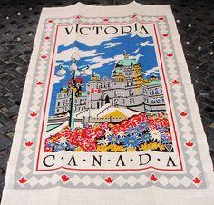 Wall hanging Linen Wall hanging Souvenir Victoria Canada
