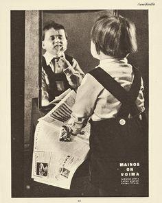 Pikkujannu peilin edessä, Pohjoismaisen Mainoskongressin ilmoitus Suomen Kuvalehdessä 1935