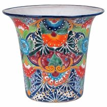 Jumbo Size Talavera Flower Pots   Assorted Designs