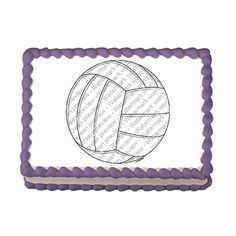 Volleyball EDIBLE Image Cake Cupcake Topper by CakesPopsCupcakes, $7.95