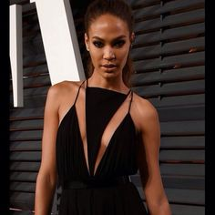 JOAN #JoanSmalls wears #Balmain Spring/Summer 2015 Look 17 to attend the 2015 Vanity Fair Oscar Party in Beverly Hills. #BalmainArmy #Balmainiac