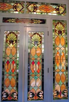 Nice window work by Lorraine Cole, glass artist from Portsmouth, U.K.