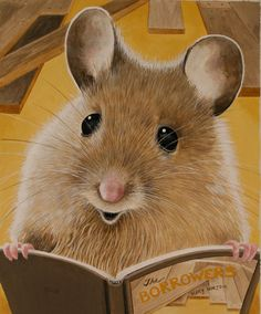 Mouse Reading a Good Book