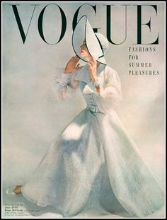 Model in white organdy and lace dress, cover by Erwin Blum… | Flickr Vogue Vintage, Vintage Vogue Covers, Retro Vintage, Vintage Fashion, Vintage Couture, Retro Fashion, Vogue Magazine Covers, Fashion Magazine Cover, Fashion Cover
