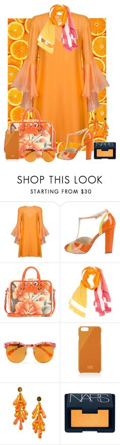 """""""🍊"""" by allyssister ❤ liked on Polyvore featuring Galvan, Prada, Balenciaga, Hermès, Gentle Monster, Native Union and NARS Cosmetics"""