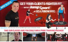 #JumpSport #Fitness #Trampolines at JumpSport #ECA World Fitness booth # 3858, with Kevin Kearns