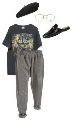 """Sleepless"" by les-garconnes ❤ liked on Polyvore featuring Brandy Melville, Ray-Ban, Yves Saint Laurent and Gucci"