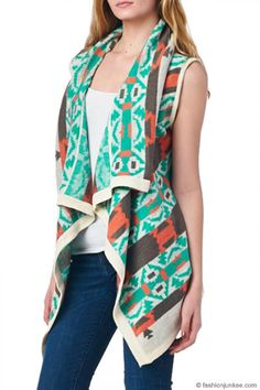 On-trend clothing, dresses, shoes & accessories at affordable prices! Tribal Print Cardigan, Mint Coral, Cardigans, Sweaters, Tribal Prints, Kimono Top, Ivory, Vest, Trending Outfits