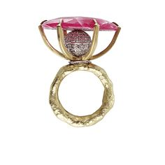 Rotating Sliced Ruby and Diamond Ring | BOAZ KASHI