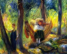Le Hamac, huile sur toile de William James Glackens (1870-1938, United States)