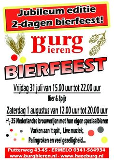 Burgbieren Bierfeest in Ermelo, Gelderland