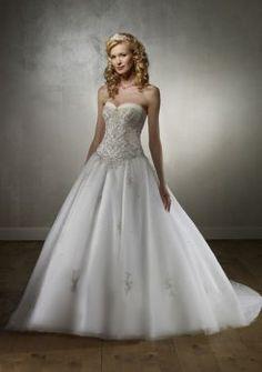 Luxus-a-Linie trägerlosen herrliche Brautkleider