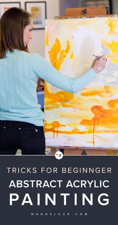 Try Your Hand at Abstract Acrylic Painting with these simple tips | www.wandeleur.com