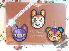 Animal Crossing Perler Bead X-mas ornaments!~