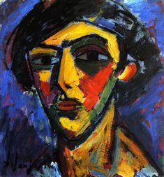 The Athenaeum - Head of a Youth (Alexei Jawlensky - )