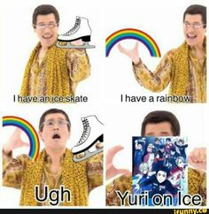 Yuri on Ice isn't really my type of anime, but cosidering what i heard about it, that shows pretty well what's the anime about