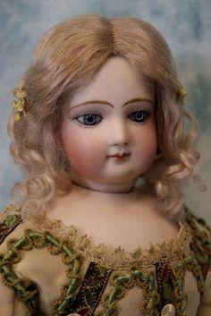 "16"" Antique French Fashion Doll Circa 1870 Swivel Head, Fantastic Dress & boots"