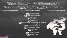 The 4 Week Drop 10 Workout Guide | Female Fit Body
