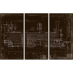 Locomotive 3-Panel Art Print