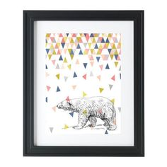 Print - wall art - poster - A4 - Geometric polar bear