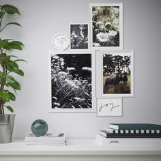 """IKEA - VITABY, Collage frame for 6 photos, Motif from the IKEA Family book """"SY-Passion for textiles"""" and Sara Fager.Motifs are in place; Ikea Cadre Photo, Photos Encadrées, Ikea Pictures, Ikea Wall, Ikea Family, Room Posters, Photo Wall Collage, Bedroom Art, Frames"""
