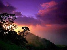 Rainbow over Nā Pali Coast taken from the top of the Waimea Canyon.