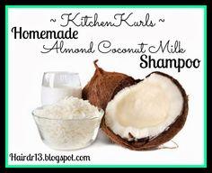 Homemade Sulfate Free Almond Coconut Milk Shampoo