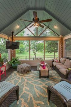 So you are looking for sunroom inspiration… you are in for a treat! We have the best sunroom designs you can achieve! Check more at glamshelf.com Screened Porches, Screened Porch Furniture, Screened In Deck, Covered Porches, Sunroom Furniture, Arrange Furniture, Porch Awning, Porch Windows, Screened Porch Designs