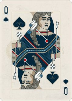 Playing Cards - Queen Of Spades, Pocahontas, Founders by the US Playing Card Company (USPCC) - playingcards, playingcardsart, playingcardsforsale, playingcardswiththefamily, playingcardswithfamily, playingcardsgame, playingcardscollection, playingcardstorage, playingcardset, playingcardsproject, cardscollector, playingcard, design, illustration, cards, cardist