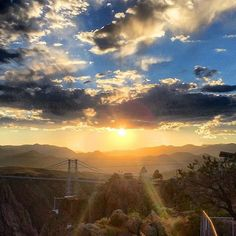 Can you believe the #sunsets at the #RoyalGorgeBridge