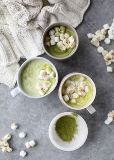 matcha honey hot chocolate with toasted marshmallows I howsweeteats.com