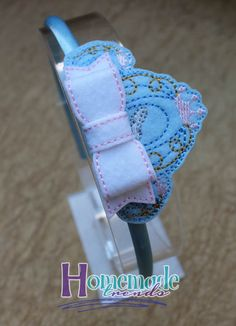 Princess Hair Accessory-Felt Princess Bow-Glass by HomemadeTrends
