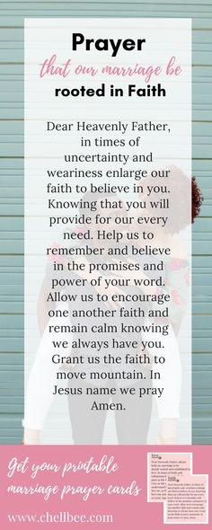 Free printable prayer cards to pray over your marriage and husband. New Quotes, Happy Quotes, Bible Quotes, Love Quotes, Inspirational Quotes, Marriage Prayer, Love And Marriage, Printable Prayers, Printable Quotes