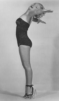 Marilyn in swimsuit.