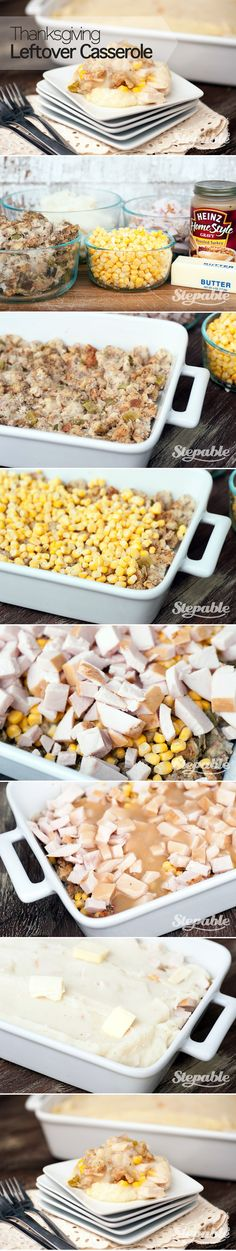 Thanksgiving Leftover Casserole #stepable #recipes