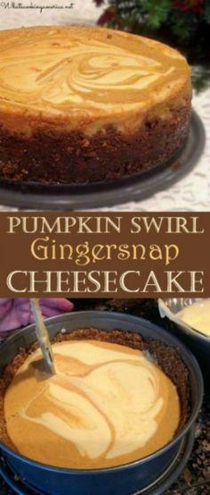 Best Pumpkin Cheesecake Recipe, Best Cheesecake, Pumpkin Recipes, Cheesecake Cupcakes, Punkin Cheesecake, Pumpkin Cheesecake Gingersnap Crust, Gingerbread Cheesecake, Cheescake Recipe, Cheesecake Crust
