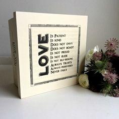 'Love is kind' Wooden Keepsake Box