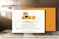 Little Pumpkin Baby Shower Invitation by PeanutPRINTS4u