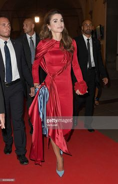 Queen Rania of Jordan attends the Celebrity Fight Night gala at Palazzo Vecchio…