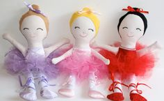 Ballerina Doll Dance Ballet 17 inch Made to Order by FrogBlossoms, $46.00