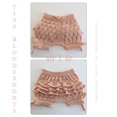 Teststrikking av nytt mønster - Tias Blondeshorts, strikket i Falk fra Dalegarn.