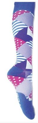 EllipsisPro knee high socks in Grape pattern. Delivers 20-30 mmHg of pressure. Great for professionals who stand on their feet for long periods of time.