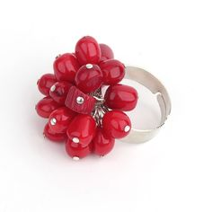 Find More Rings Information about Rings for Women 2015 Fashion Cute Design Red Coral Beads Adjustable Ring Lady Everyday Jewelry,High Quality jewelry ring case,China ring jewelry organizer Suppliers, Cheap ring bmw from Lucky Fox Jewelry on Aliexpress.com