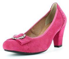 Trachten Pumps mit Zierschnalle Pink Gr. 39 - Schöne Damenschuhe von Hirschkogel zur Tracht - http://on-line-kaufen.de/andrea-conti/39-eu-trachten-pumps-mit-zierschnalle-schoene-von-5